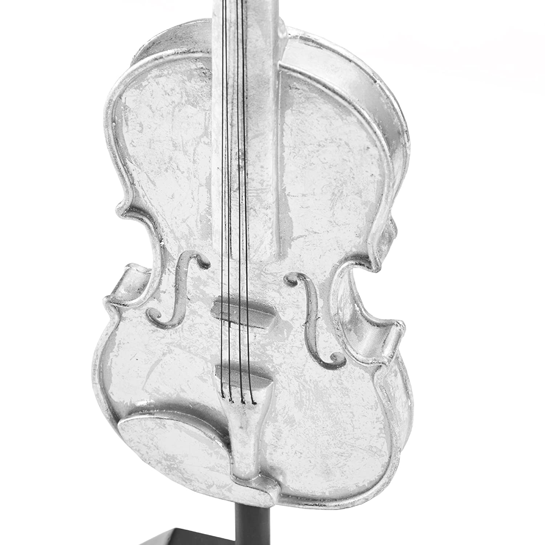 Madison Park Violin Decor Silver Vilolin MP167-0145