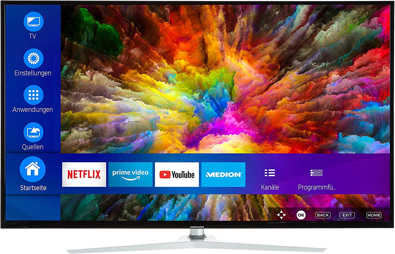 MEDION Serie X (UHD) Televisor (Smart TV, 4K Ultra HD, Dolby Vision HDR, Micro Dimming, MEMC, WCG, Triple Tuner, DVB-T2 HD, Netflix App, Prime Video, PVR, Bluetooth): Amazon.es: Electrónica