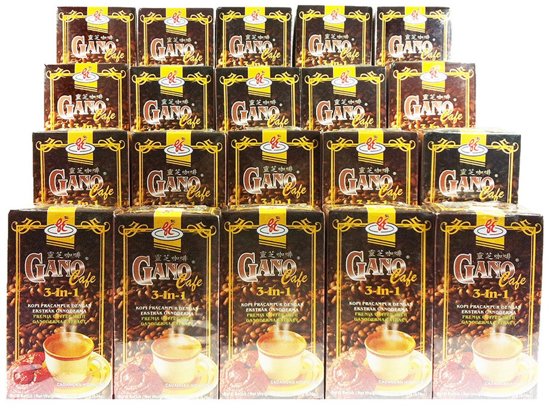 20 Boxes Gano Cafe 3-in-1 by Gano Excel USA Inc. (20 Sachets) by Gano Excel (Image #1)