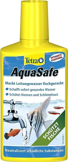Tetra AquaSafe 736269, Purificador de agua para peces de acuario, 250 ml: Amazon.es: Productos para mascotas