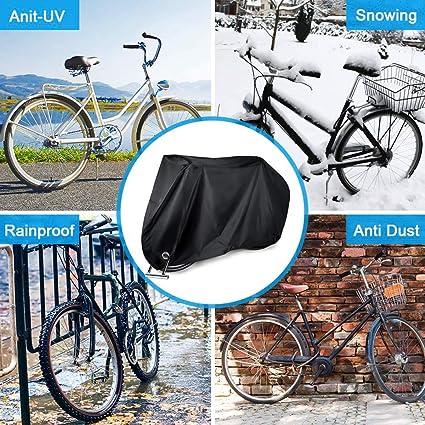 YMYGCC Copertura per Biciclette Waterproof Bike della Copertura della Pioggia Copertura Antipolvere Biciclette UV di Protezione for Bici ciclabilit/à Rain Cover Outdoor 125
