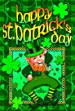 Toland Home Garden 102128 Toland-Happy Leprechaun-Decorative Double Sided St Patrick Lucky Clover USA-Produced House Flag