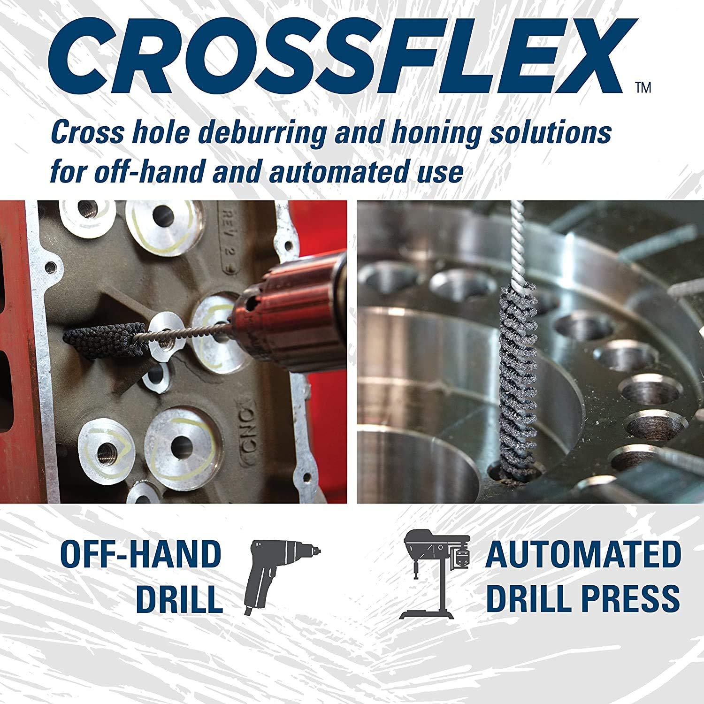 Weiler 34190 Crossflex Standard Duty Bore Brush 1 Diameter 120SC Grit