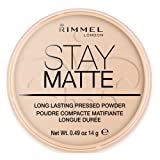 Rimmel London Stay Matte Pressed Powder, 003 Peach Glow, 14 g