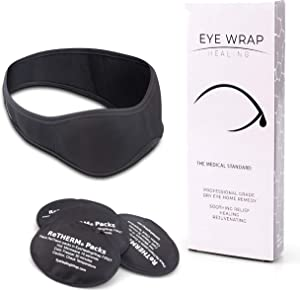 Neoprene Hot Cold Compress Eye Mask - EyeWrap by FaceWrap System - Ice Packs for Swelling, Dry Eye, Puffy Eyes - Cooling Mask Helps Puffiness, Headaches, and Migraines