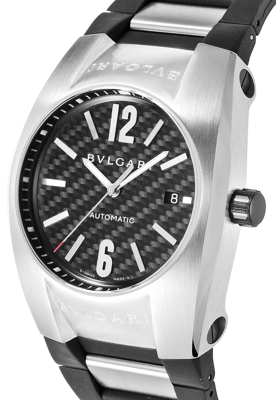 buy online 3a356 c314c Amazon.com: Bvlgari Watch Eg40bsvd Elgon Black: Watches