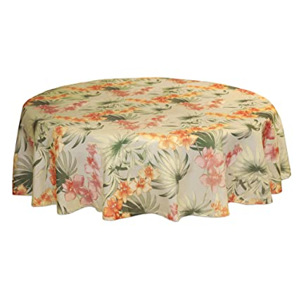 Tommy Bahama African Orchid 70 Inch Round, Linen