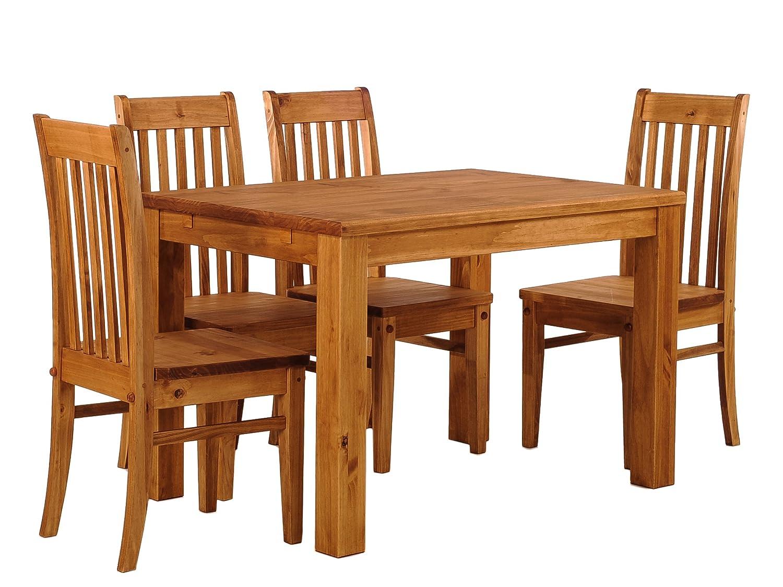 Massivholzmöbel Kuckuck massivholztisch + 4 x Silla Miel Claro ...