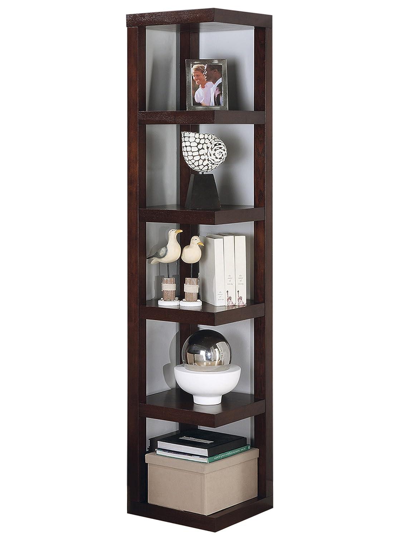 Coaster Home Furnishings 5-Tier Corner Bookcase Cappuccino