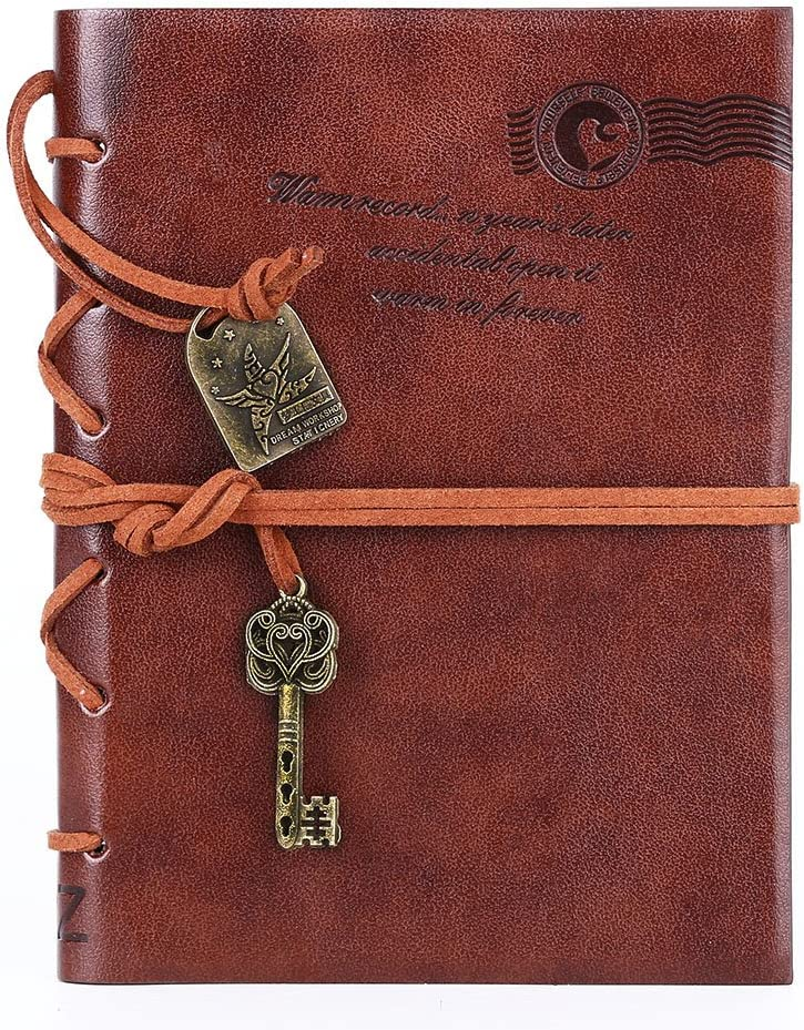 2x Retro Leather Vintage Classic String Blank Diary Journal Sketchbook Notebook