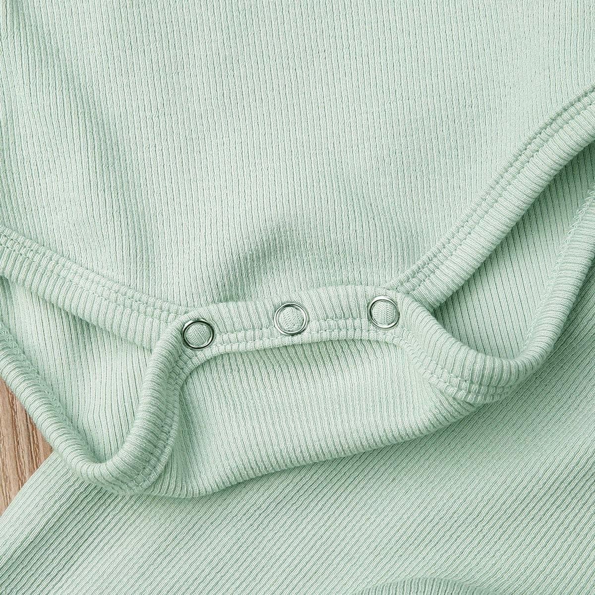 Organic Cotton Kimono Onesies+Striped Pants Newborn Unisex Baby Pajamas Infant Baby Top Pants Set