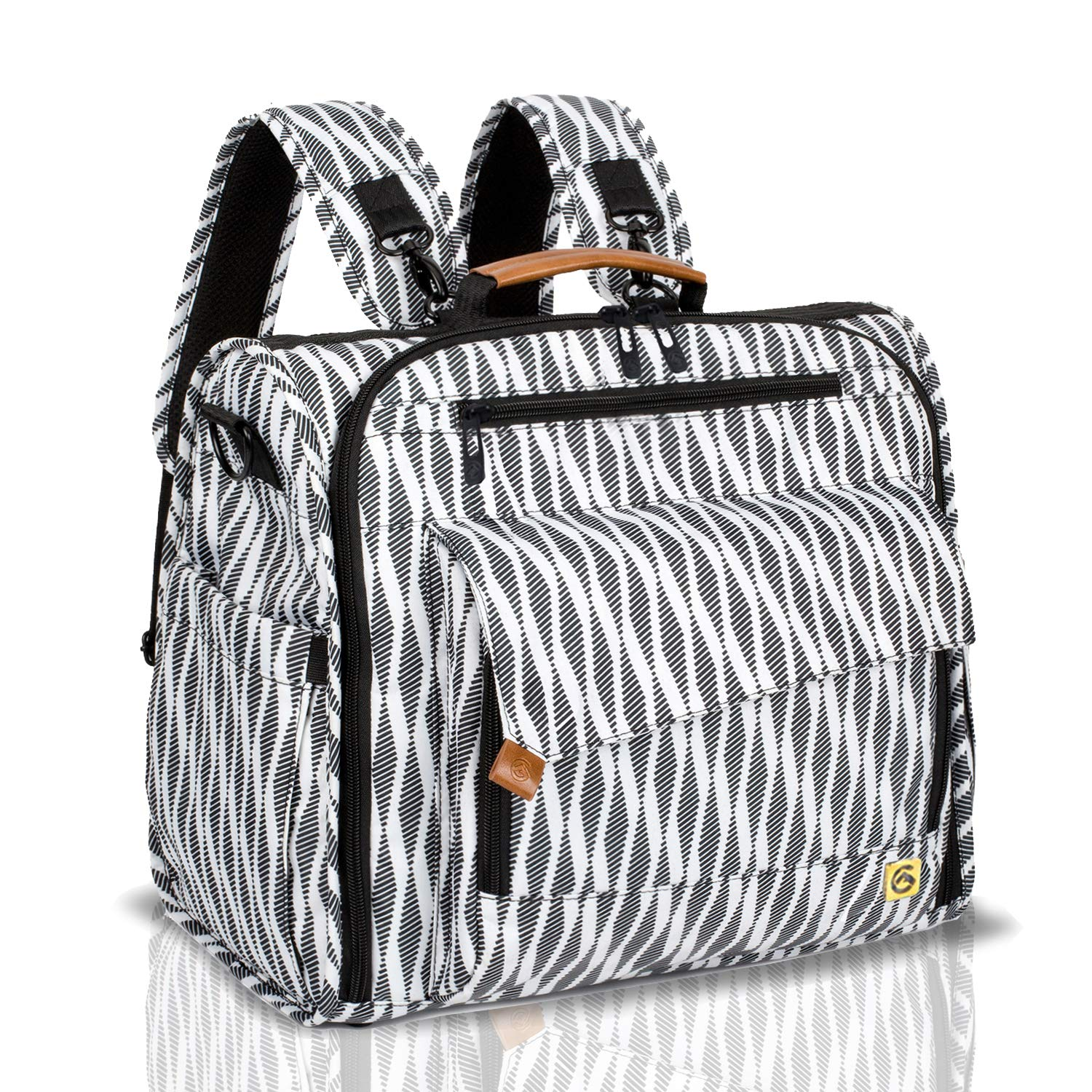 ALLCAMP Zebra Diaper Bag Large, Support Baby Stroller, Converted Into a Tote Bag, Black and White by ALLCAMP OUTDOOR GEAR
