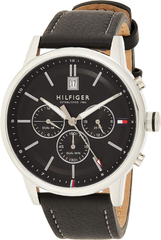 Tommy Hilfiger Reloj Analógico para Hombre de Cuarzo con Correa en Cuero 1791630