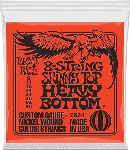 Ernie Ball Flaco superior pesado inferior Slinky 8 cuerdas cuerdas ...