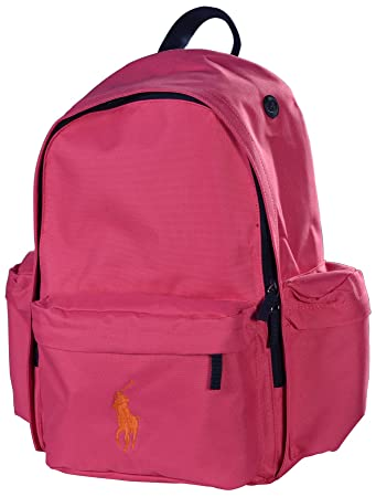 Polo Ralph Lauren Big Pony Backpack Napsack Bag Tote Pink  Amazon.co ... cfdfda6626264