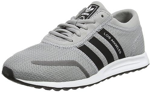 adidas Los Angeles J, Zapatillas de Deporte Unisex niños, Gris (Grimed/Negbas/Ftwbla), 35.5 EU: Amazon.es: Zapatos y complementos