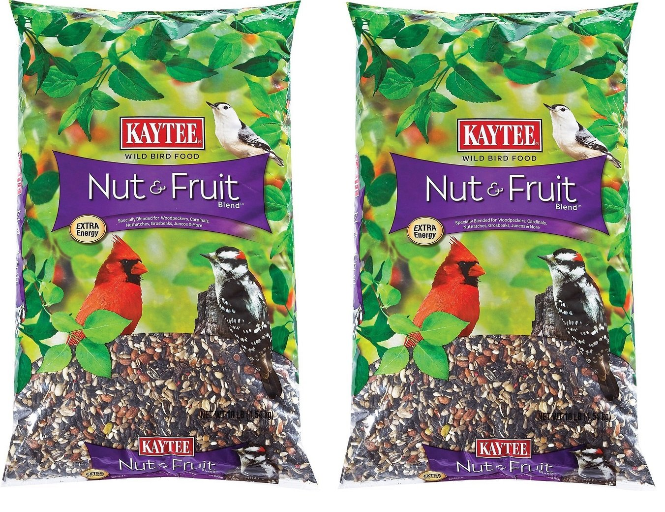 Kaytee CZAEEk Nut and Fruit Blend, 10 Pound Bag (2 Pack)