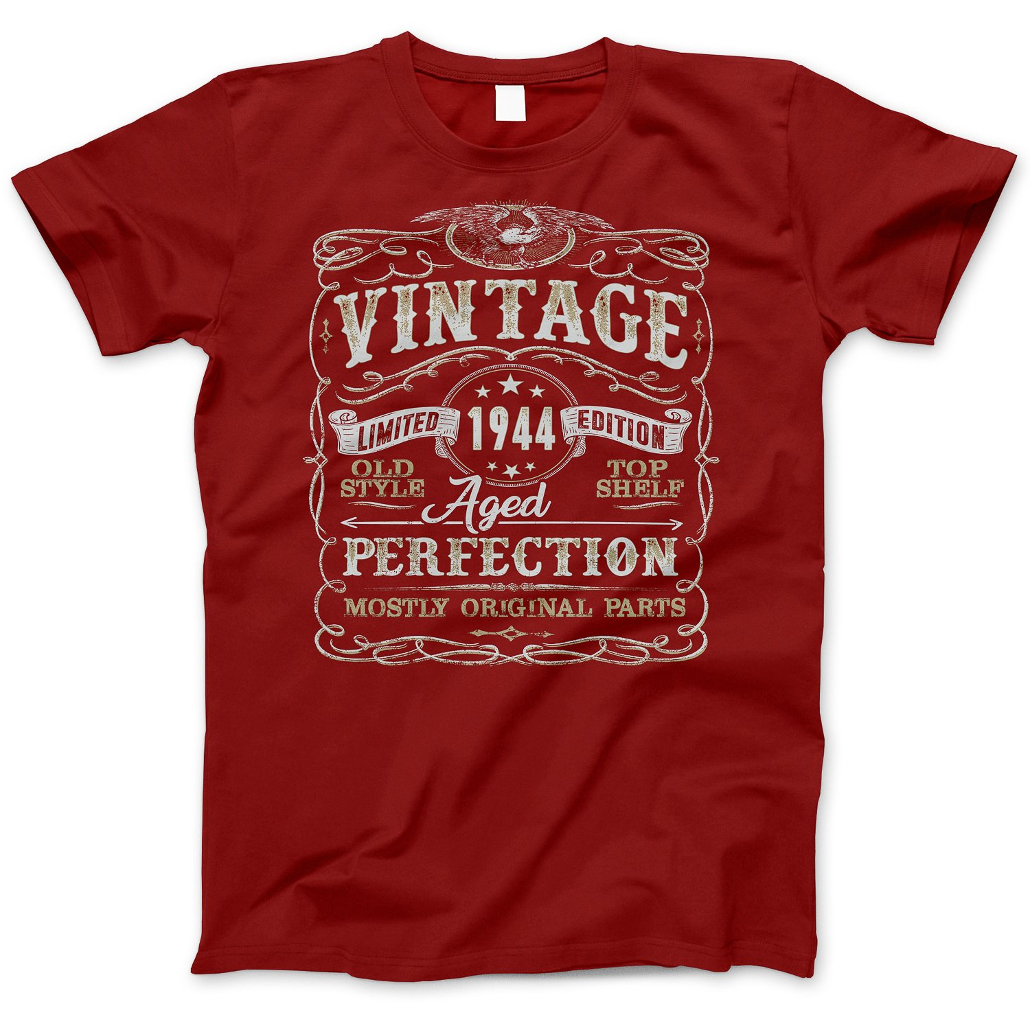 14bf4f67 75th Birthday Gift Vintage Aged 75 Years Perfection Born in 1944 T-Shirt:  Amazon.ca: Clothing & Accessories
