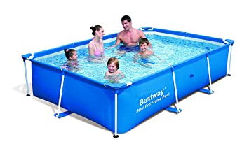 Bestway Deluxe Splash Frame - Piscina tubular, 259 x 170 x 61 cm: Amazon.es: Jardín
