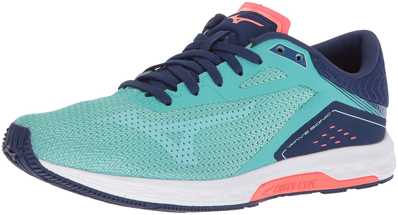 Turquoise yucca Mizuno Women's Wave Sonic Running shoes Pink