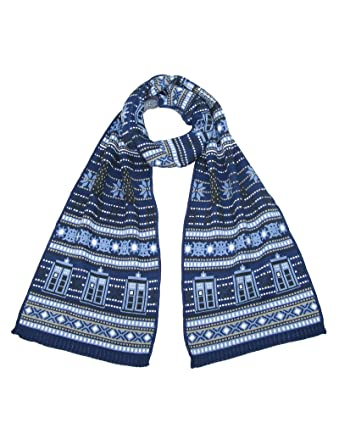 Tardis And Daleks Christmas Scarf Official Doctor Who Scarf By