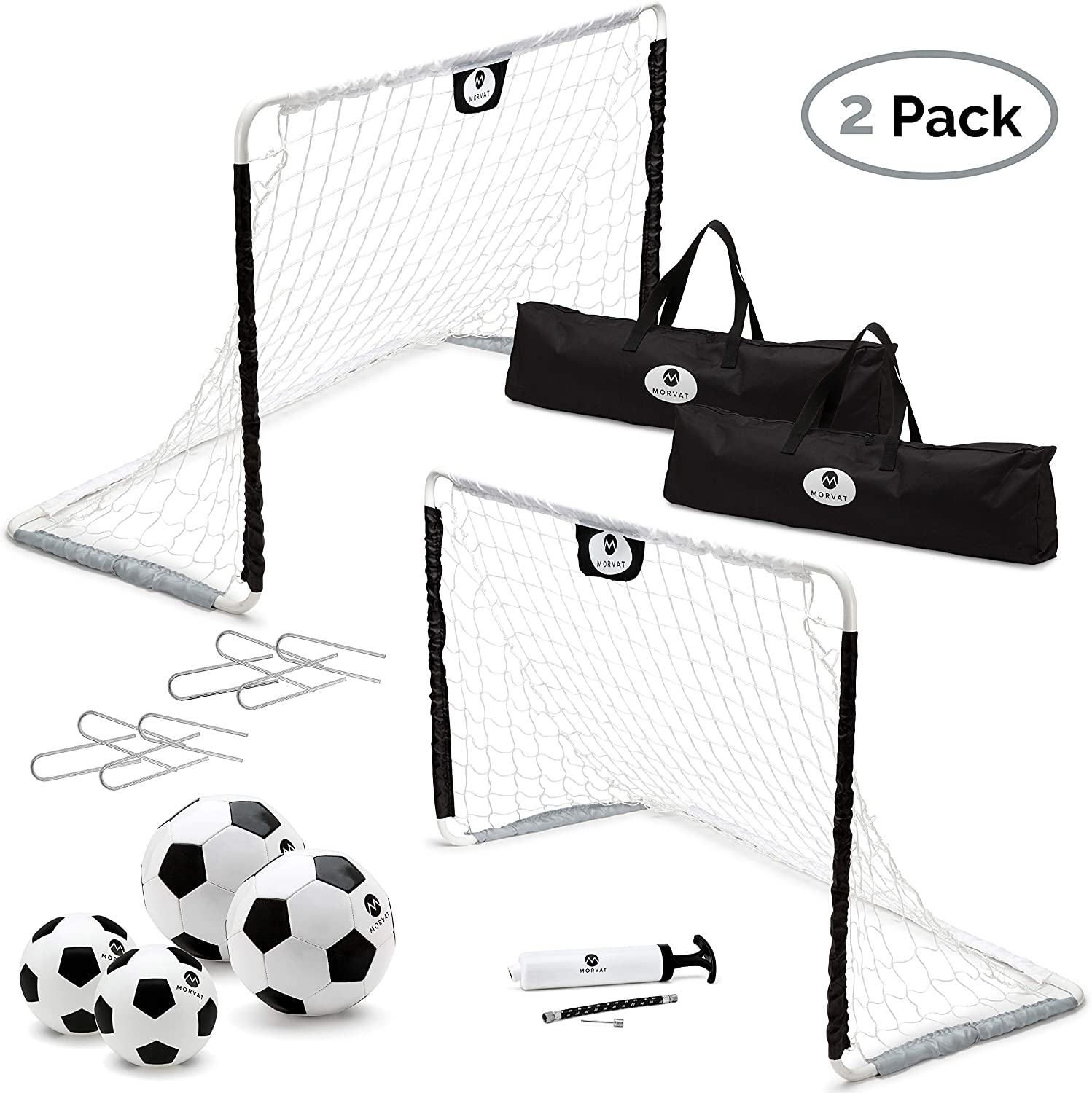 Morvat Soccer Goal Set for Backyard, Outdoor Toys Soccer Net, Soccer Goals for Backyard, Soccer Accessories, Pop Up Soccer Goals