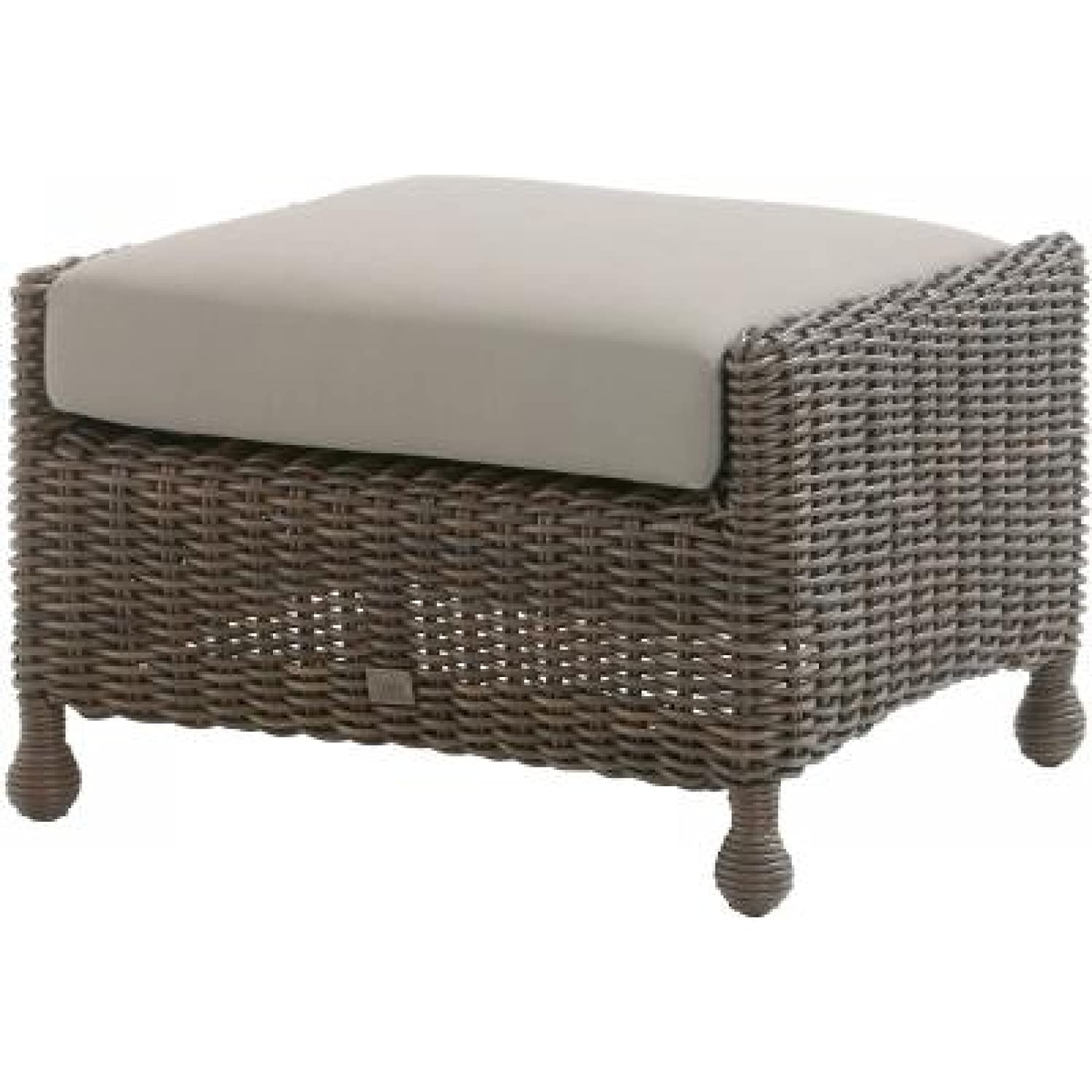 4Seasons Outdoor Madoera Fußhocker Footstool Polyrattan Colonial inkl. Kissen