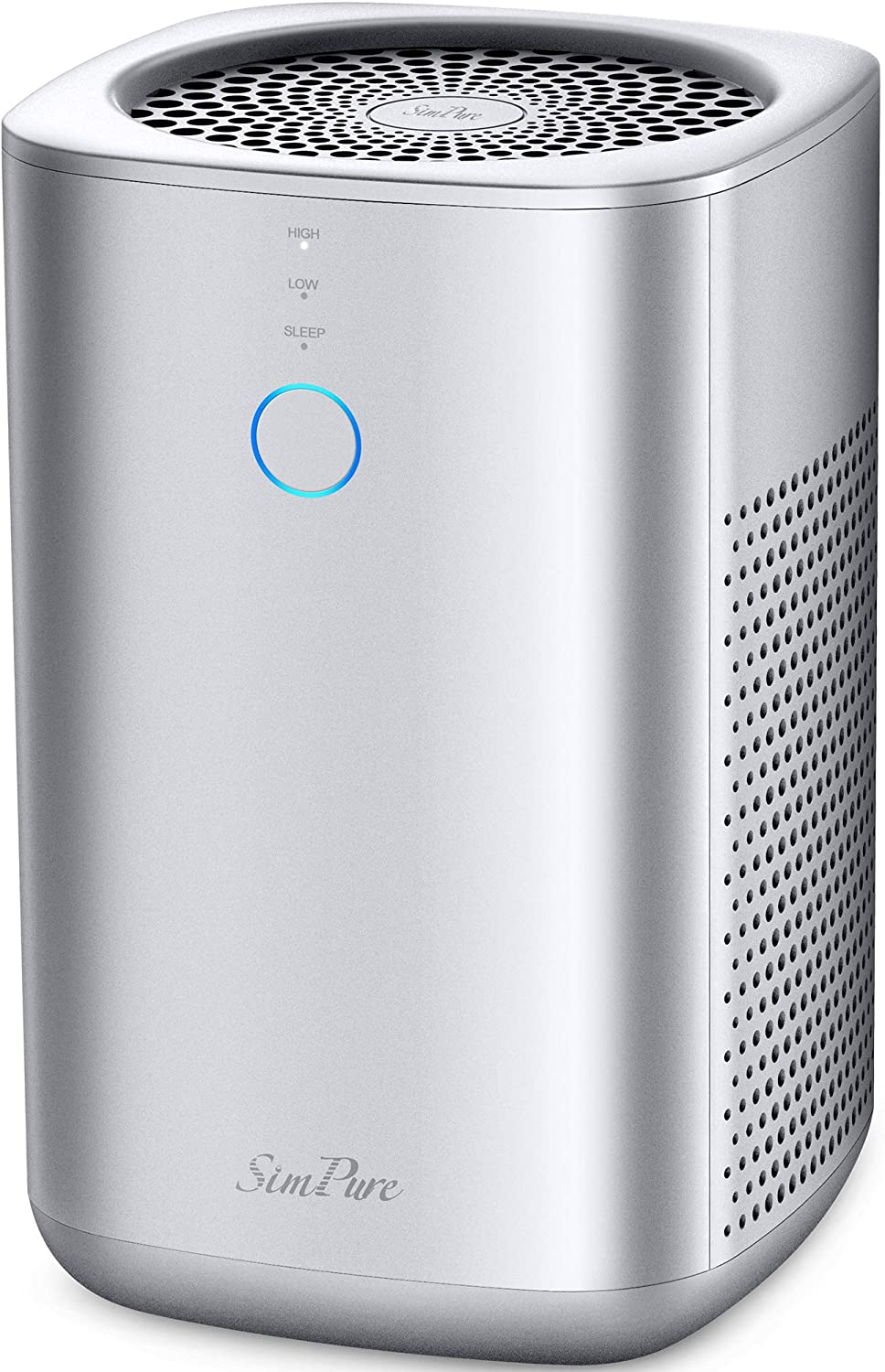 SimPure Air Purifier for Home & Office with Ture HEPA Filter, 24db Filtration System with ARC Formula, Remove 99.98% Odors Smoke Dust Mold Pollen - Silver