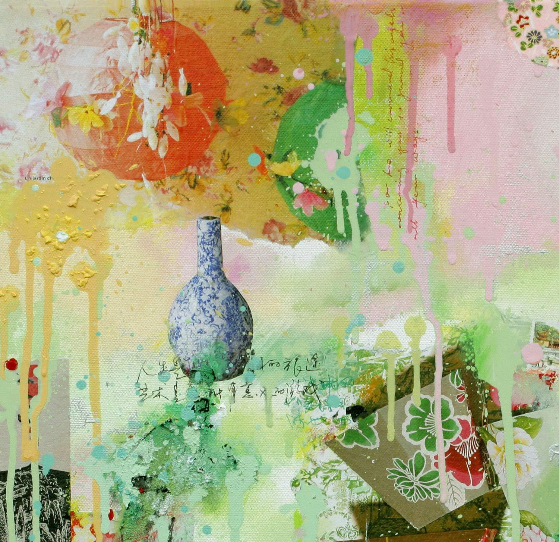 Reproducción de arte - Jardin chinois - sobre papel de acuarela ...