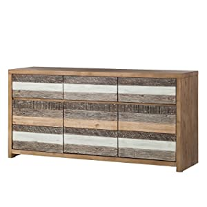 The Attic Jersey Side Board (Lacquered, Distress Grey and White)