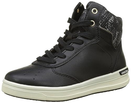 Geox J Aveup C, Zapatillas Altas para Niñas, Negro (Black), 31 EU
