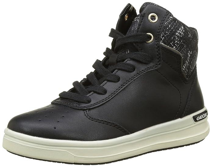 Geox Mädchen J Aveup Girl E Sneaker, Grau (Graphite), 36 EU