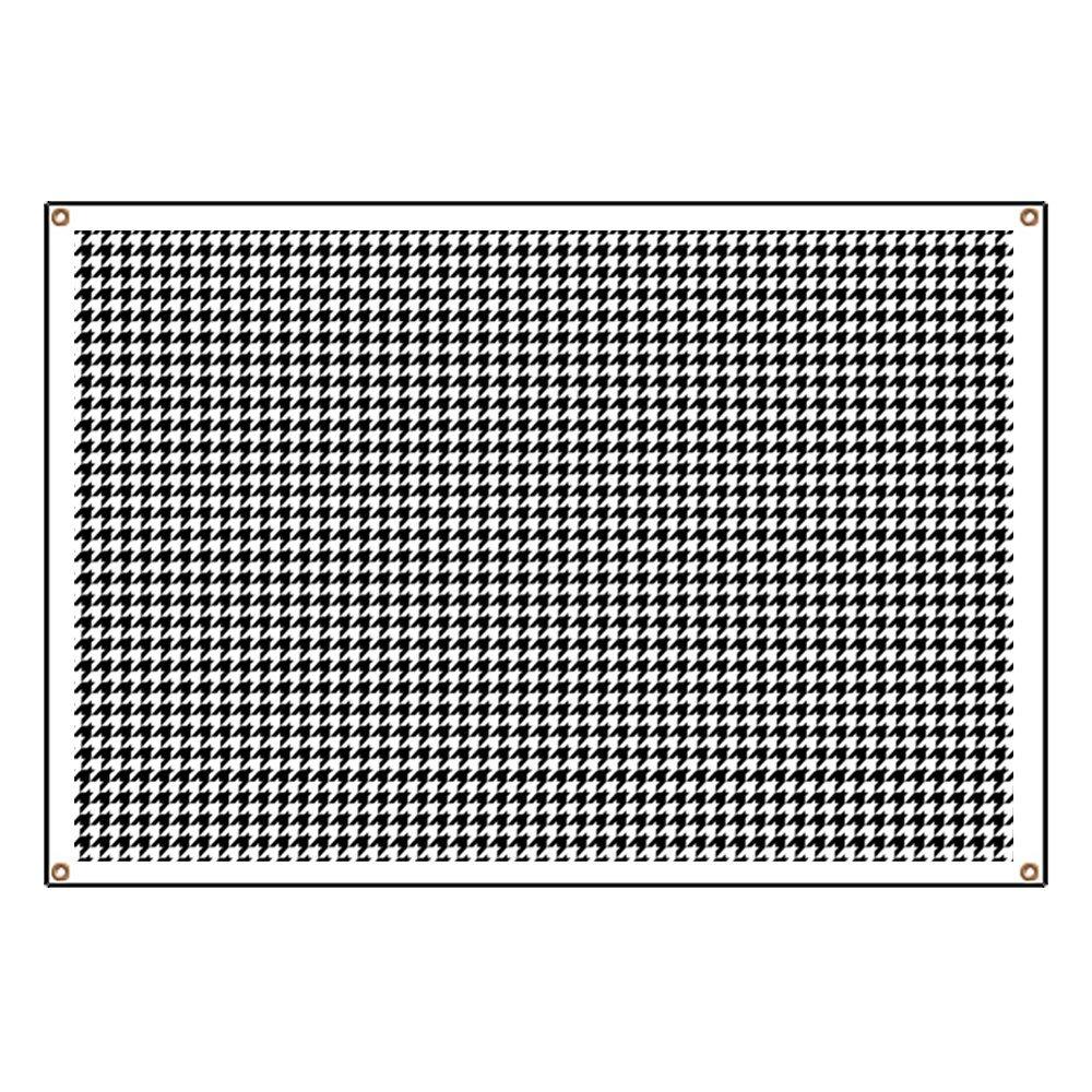 CafePress Houndstoothlargewide2 - Vinyl Banner, 44''x30'' Hanging Sign, Indoor/Outdoor