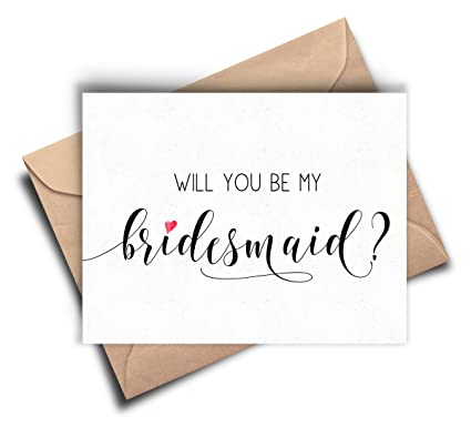 amazon com will you be my bridesmaid card bridesmaid proposal