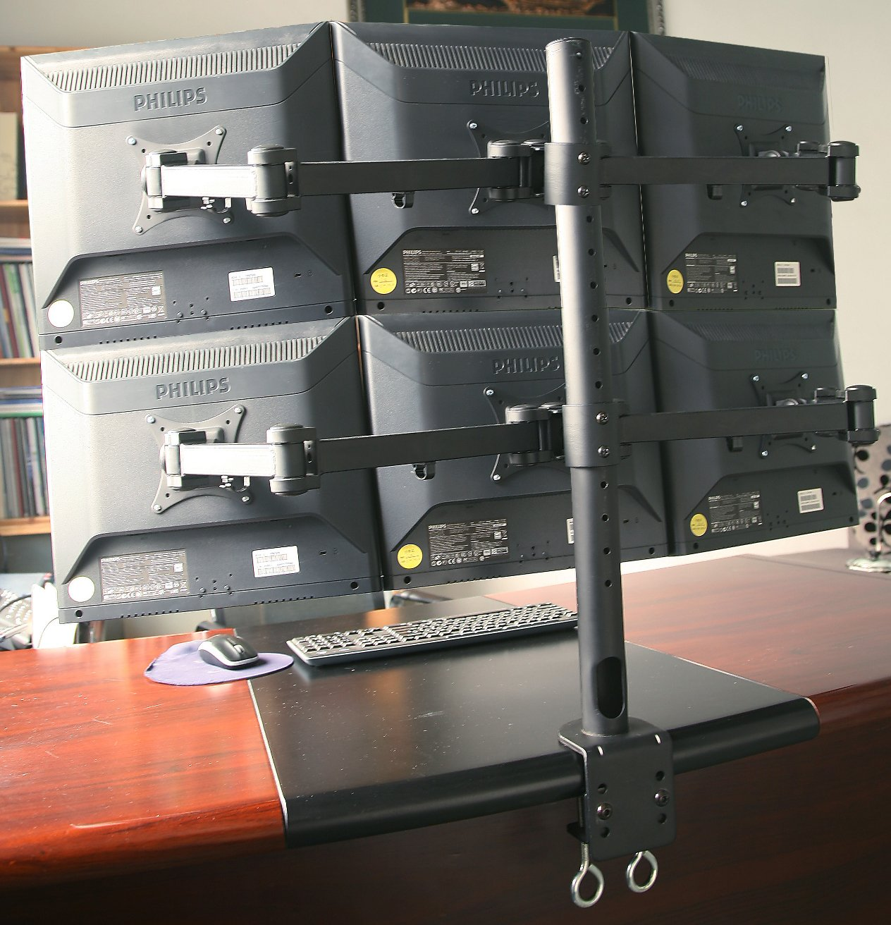 Amazon com vivo triple lcd monitor desk mount stand heavy duty fully - Amazon Com Vivo Hex Lcd Monitor Desk Mount Stand Heavy Duty Fully Adjustable 6 Screens Upto 24 Stand V006 Computers Accessories