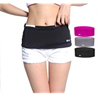 EAZYMATE Fashion Running Belt - Travel Money Belt Zipper Pockets Fit All Smartphones Passport