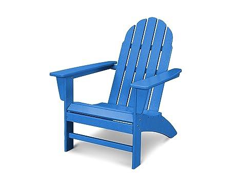 POLYWOOD Vineyard Adirondack Chair Pacific Blue
