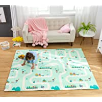 Infant Shining Playmat Baby Play Mat Foldable King Size Reversible 200x180cm, Non Toxic XPE Foam Waterproof for Kids…