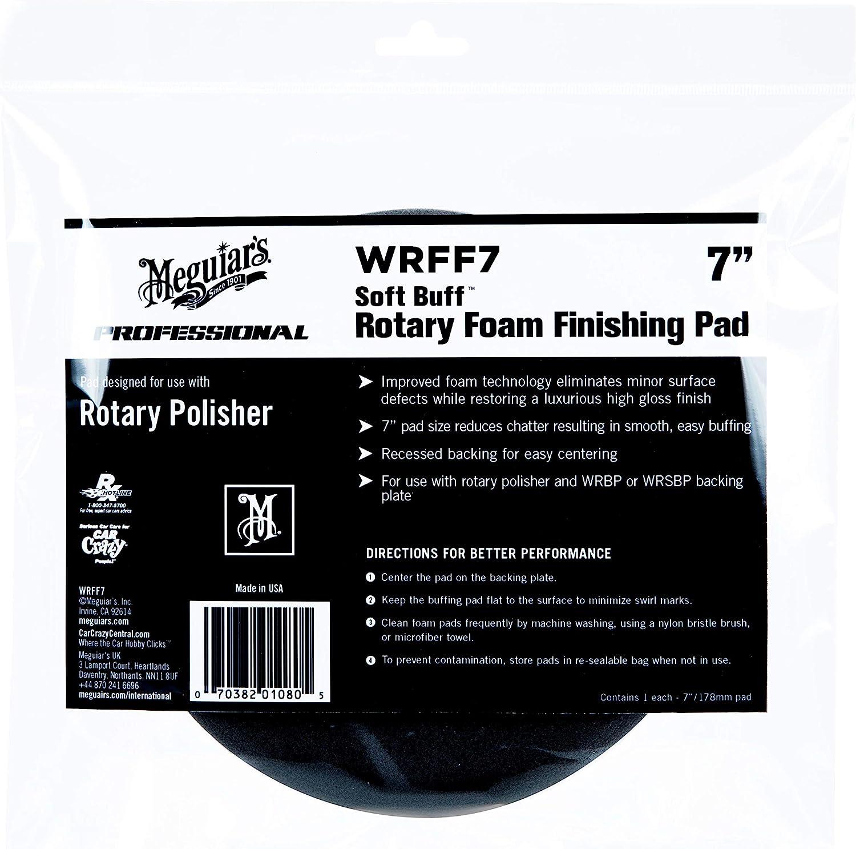 Meguiar's WRFF7 Soft Buff 7-inch Rotary Foam Finishing Pad