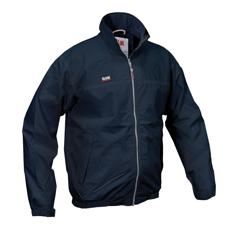 Slam - Chaqueta de marinero de verano para hombre, repelente al agua, resistente al viento, dos bolsillos internos, 100% nailon