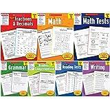 Scholastic Success With - Grade 5 Set (7 books): Fractions&Decimals 5, Math 5, Math Tests 5, Grammar 5, Reading Comprehension