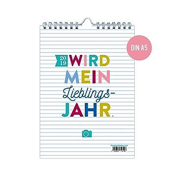 A5 Fotokalender 2019 Bastelkalender Kreativkalender Bunt Farbenfroh Fröhlich Deinen Kalender Selbst Gestalten Basteln Und Verschenken