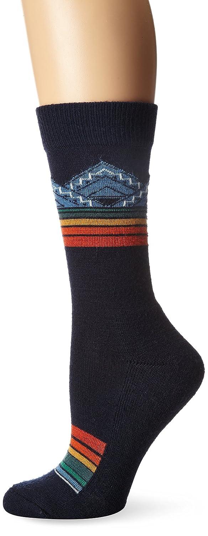 Pendleton Women's Merino Jacquard Park Crew Socks, Blue, Medium(6-10) McCubbin Hoisery 6426-W