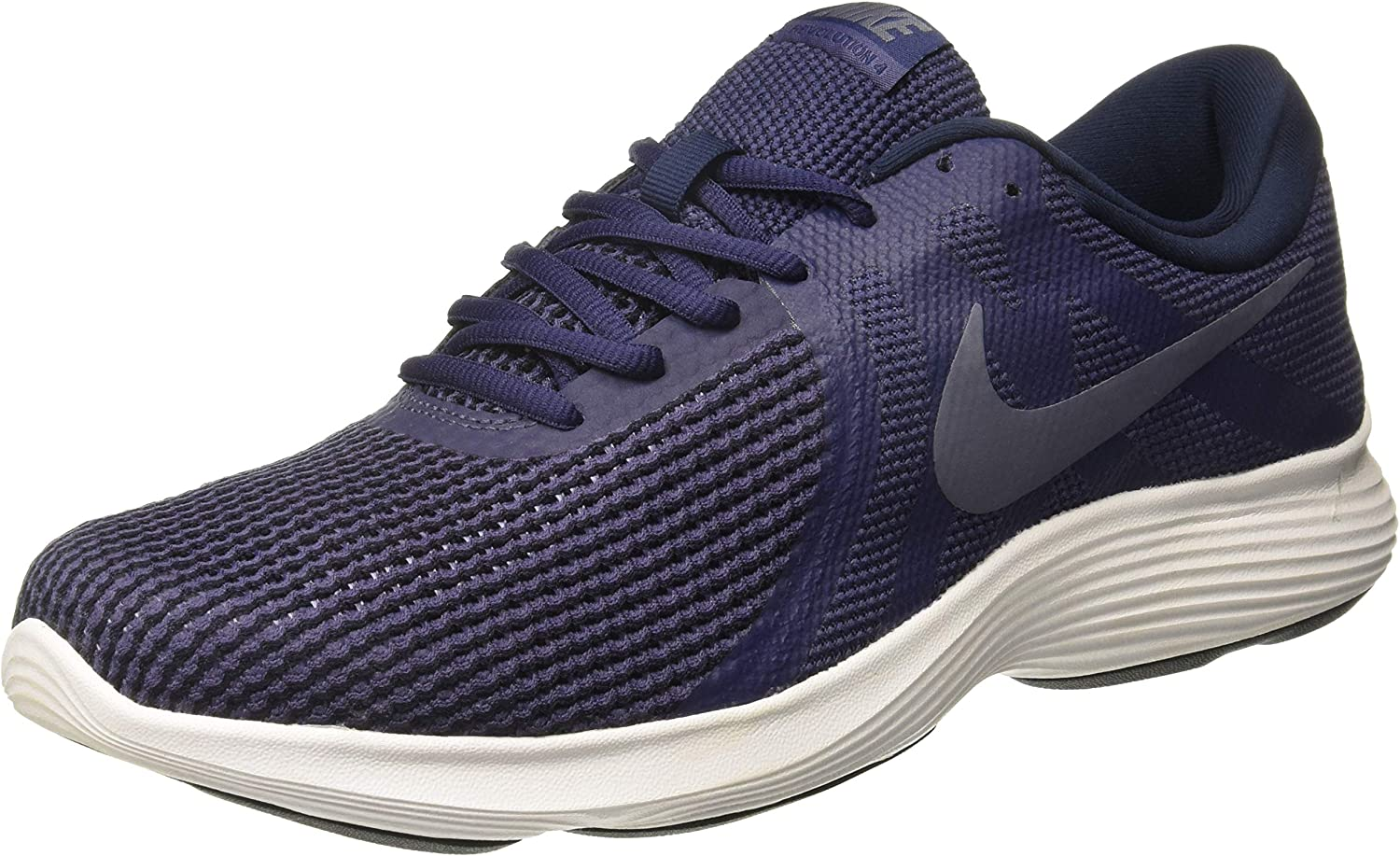 Nike Men's Revolution 4 Running Shoe Neutral Indigo Light Carbon Obsidian Size 9.5 M US