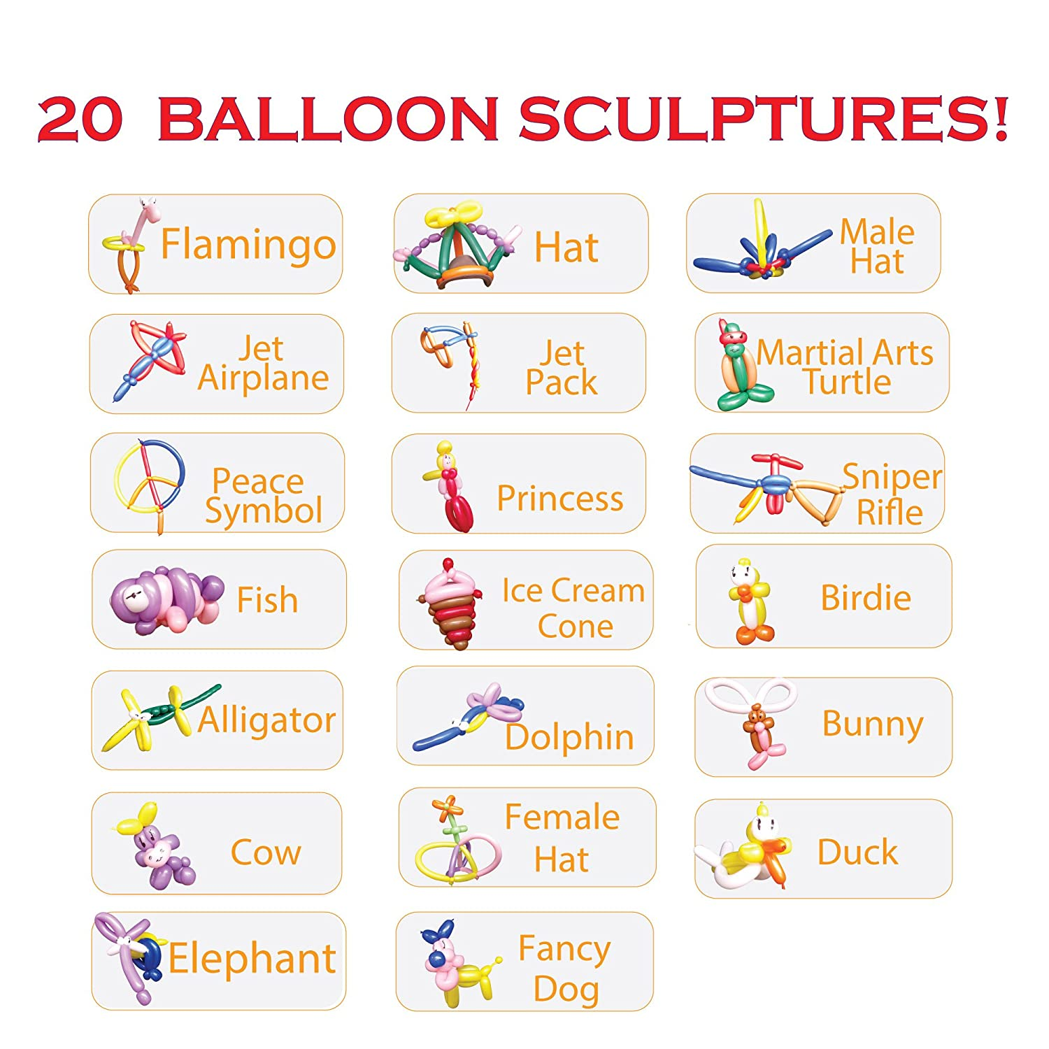 photograph relating to Balloon Modelling Instructions Printable called : Understand Climb Balloon Animal Package, Detailed