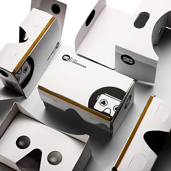 I Am Cardboard Five-Pack VR Box Set | The Best Google Cardboard Bulk  Virtual Reality Viewer for iPhone and Android | Google Cardboard v2 Headset