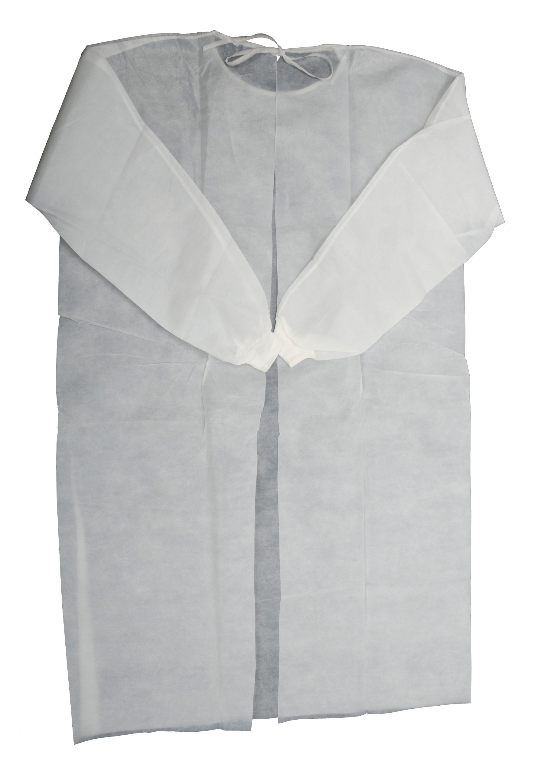 Primacare IG-1702 Isolation Gown, Universal Size with Knitted Cuff, Disposable (Pack of 10)
