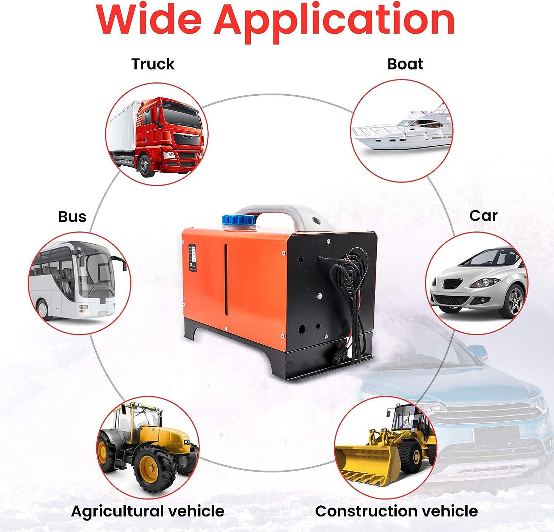 maXpeedingrods 12V 8KW Diesel Air Heater LCD Remote for Lorrys Bus SUV Motorhomem Caravan Car Yacht Red
