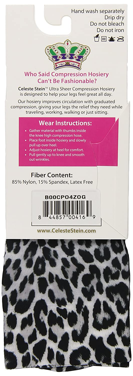 15-20 mmhg Celeste Stein Therapeutic Compression Socks 1 Pair BW Lace
