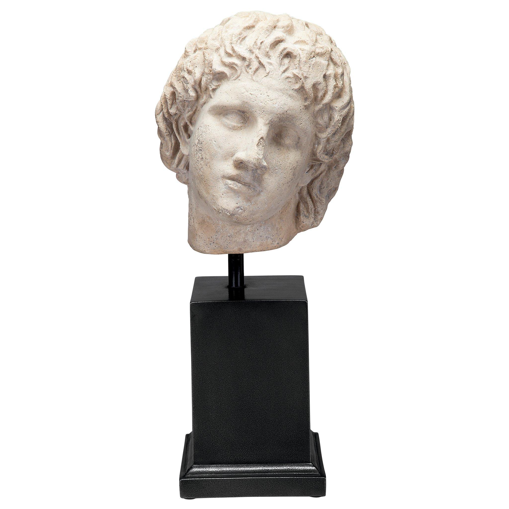 Design Toscano Alexander The Museum Mount Sculptural Bust, Antique Stone